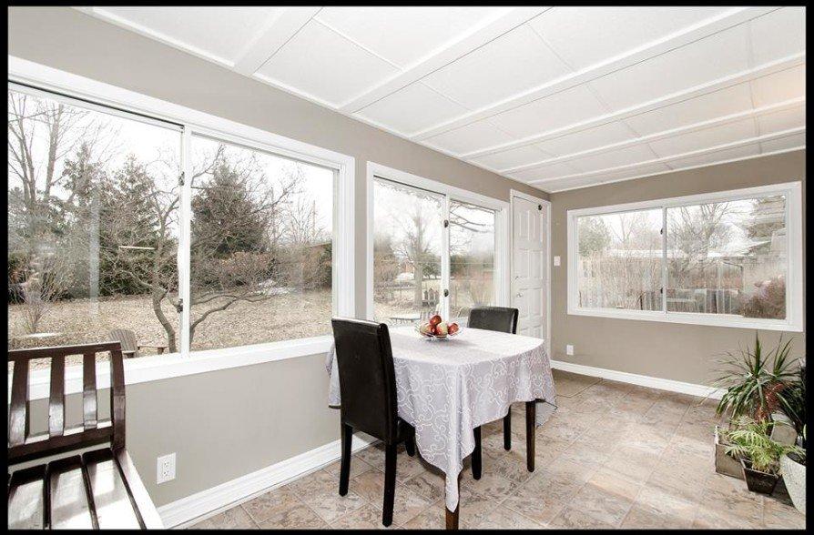 Sun room renovation and refinish