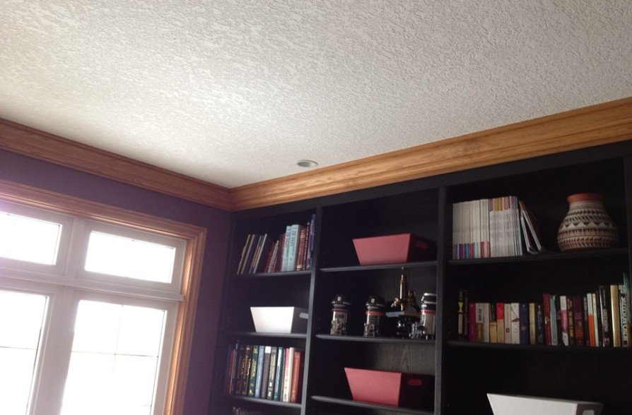 Room walls and trim painted